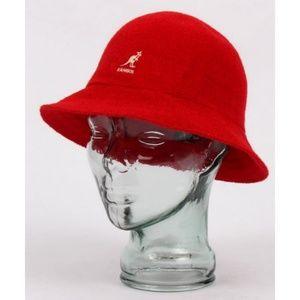 Kangol   Red Bermuda Casual Bucket Hat